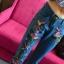 jeansy spodnie zara naszywki 36