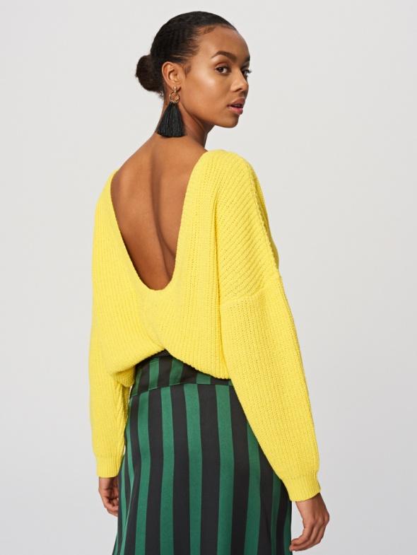 sweter reserved żółty neon...