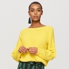 sweter reserved żółty neon