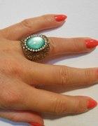 Prześliczny pierścionek niebieskie oko