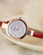 zegarek na pasku kolory prezent złoty kryształki