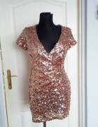 Nowa z metką cekinowa sukienka M