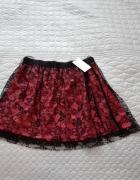 Rozkloszowana nowa spódnica koronka Mango L...