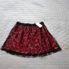 Rozkloszowana nowa spódnica koronka Mango L