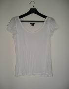 XS S bluzka H&M biała elegancka wiskoza mgiełka