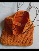 GEORGE worek torebka orange jak koszyk ażurowa...