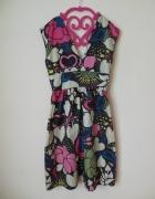 Topshop sukienka kolorowa letnia 36