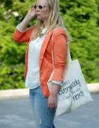 Pomarańczowa marynarka blazer L