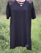 Nowe bluzki z koronką sznurowany dekolt