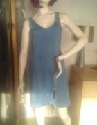 Dzinsowa sukienka z zamkiem
