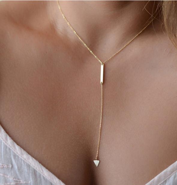 Naszyjniki Naszyjnik multi łańcuszek złoty chain charms aztec