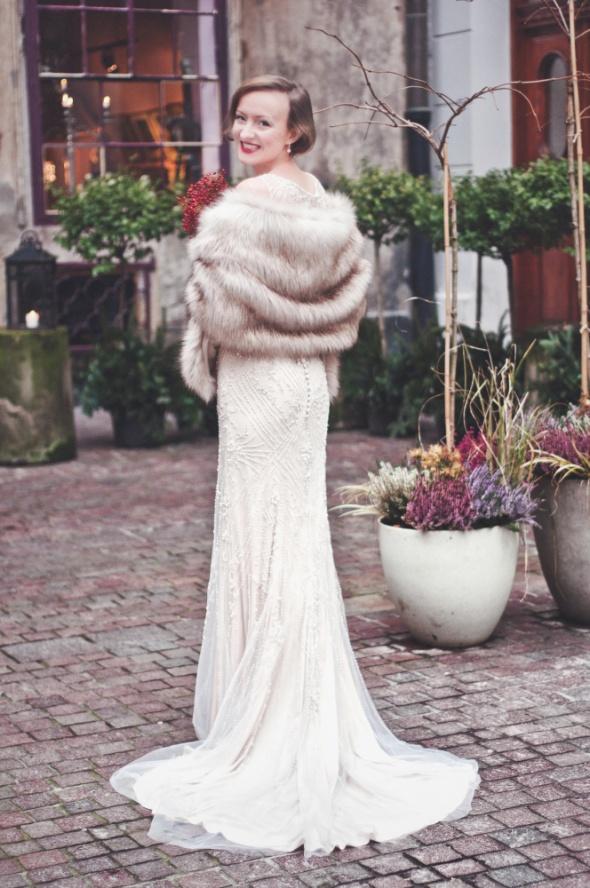 Eleganckie etola ślubna