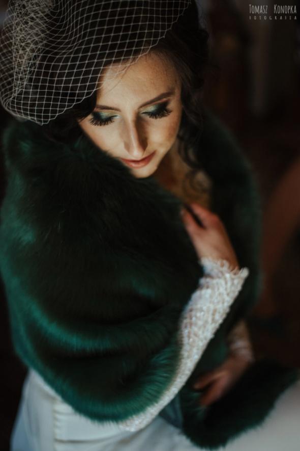 Eleganckie stylizacja ślubna zielony