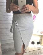 Oryginalna spodnica kopertowa szara wiazana by la