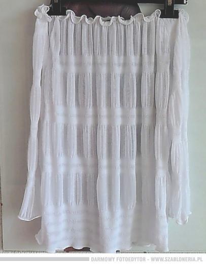 Bluzki KappAhl biała cieniutka bluzeczka hiszpanka mgiełka