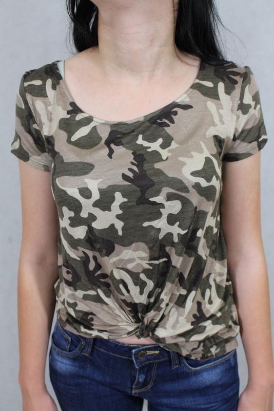 T-shirt bluzeczka bawełniana moro