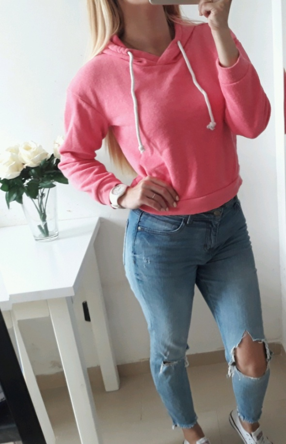 Bluzy Atmosphere bluzka crop top różowa M