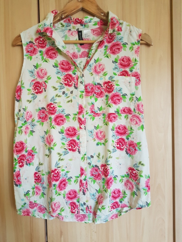 Bluzki H&M Divided kwiaty floral 38