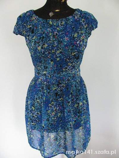 Suknie i sukienki AWEAR NOWA KOBALTOWA SUKIENKA ZIP ŁĄCZKA 40