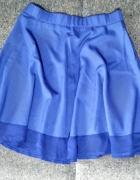 Kobaltowa spódniczka mini rozkloszowana