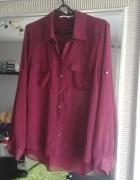 Koszula burgundowa