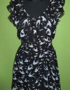 Sukienka jaskółki falbanki
