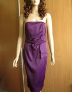 M&CO fioletowa sukienka wieczorowa nowa 38 40