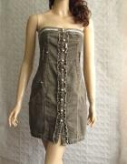 MCP Jeans sukienka brąz jeans gorsetowa lato 36 38