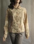 MONNARI bluza kurtka katana brąz beż wzory 42
