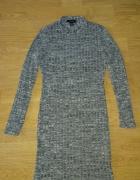 Sukienka prążkowana melanżowa