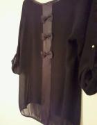 Czarna bluzka z kokardkami