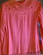 Piękna elegancka bluzka z koronką M L