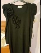 Czarna ciepła sukienka