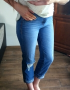 Jeansy proste dziury M denim co must have...