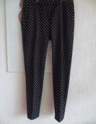 h m spodnie cygaretki we wzorek