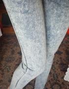 Marmurkowe jeansy jegginsy skinny s m