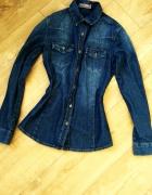 Jeansowa granatowa koszula sm