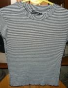 NOWA krótka bluzka w paski BERSHKA Rozmiar S