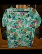 NOWA szyfonowa bluzka w kwiatki Rozmiar S