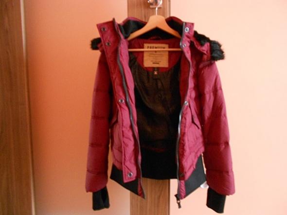 Czerwona bordowa kurtka diverse swish ciepła zimow...