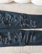 spodnie z dziurami H&M czarne 27...