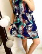 Grantowa Sukienka Damska w kwiaty Bahama M
