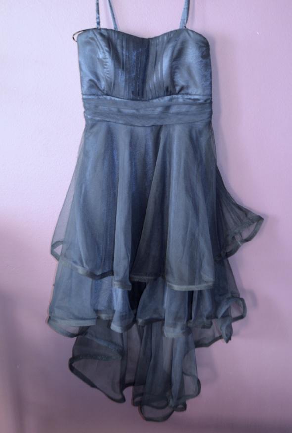 71341c8d47 Suknie i sukienki balowa sukienka suknia asymetryczna tiul 38 40 M L bal  studniówka