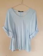 błękitna koszulka w paski Zara