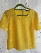 Żółta bluzka z zamkiem esmara L z wytłaczanym wzorem...