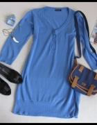 SUKIENKA sweter w niebieskim kolorze 42 XL...