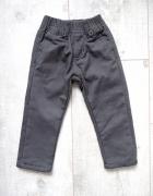 Grafitowe spodnie materiałowe 92