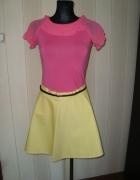 żółta nowa spódniczka