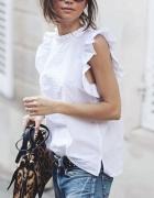 Biała romantyczna idealna na lato bluzka