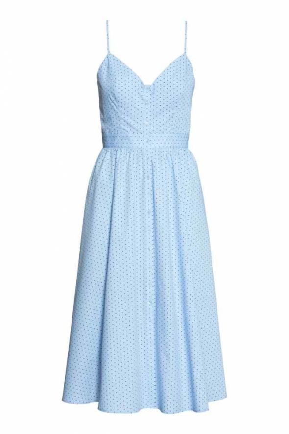 H&M Letnia sukienka błękitna w kropki